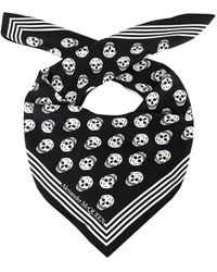 Alexander McQueen Foulard Skull - Nero