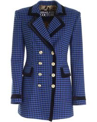 Versace Jeans Couture Houndstooth Jacket - Blue