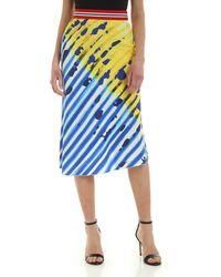Stella Jean Flared Skirt - Blue