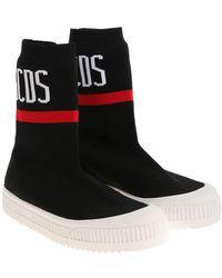 Gcds - Black Stretch Fabric Sneakers - Lyst