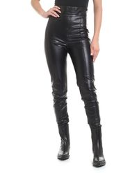 Ermanno Scervino Eco-leather Leggings - Black