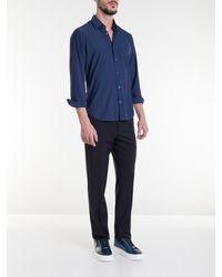 Corneliani Blue Stretch Shirt