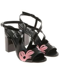 Ottod'Ame - Black Patent Sandals - Lyst