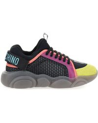 Moschino - Colourful Mesh Sneakers - Lyst