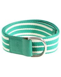 RED Valentino - Leisured Green And White Striped Belt - Lyst
