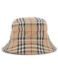Burberry Vintage Check Bucket Hat - Natural