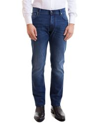 Corneliani Faded Denim Jeans - Blue