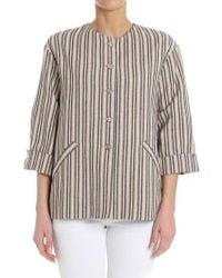Manila Grace - Striped Jacket - Lyst