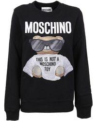 Moschino - Felpa Micro Teddy Bear Nera - Lyst