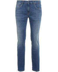 Fay Cotton Blend Straight Leg Jeans - Blue