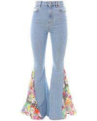 Gcds Light Wash Flared Jeans - Blue