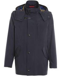 Fay Tech Fabric Rain Coat - Blue