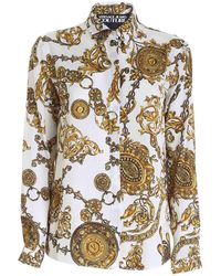 Versace Jeans Couture Regalia Baroque Print Shirt - White