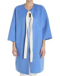 Sofie D'Hoore - Light-blue Oversize Coat - Lyst