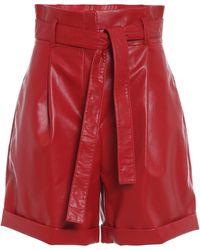 Philosophy Di Lorenzo Serafini - Faux Leather Shorts - Lyst