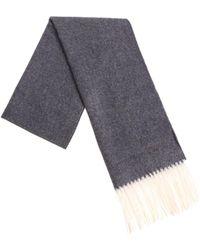 DSquared² - Grey Melange Wool Scarf - Lyst