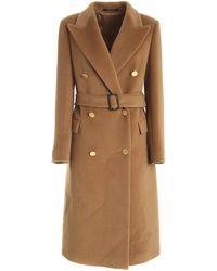 Tagliatore Jole/c Double-breasted Coat - Brown