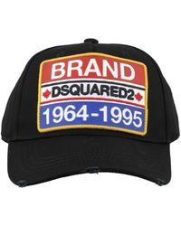 DSquared² Cotton Baseball Cap - Black
