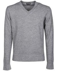 Tom Ford Mélange Silk Blend Jumper - Grey