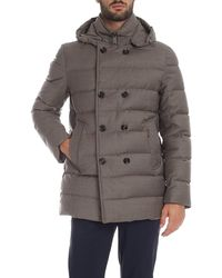 Moorer Florio Double-breasted Down Jacket - Grey