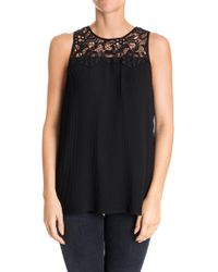 Michael Kors - Pleated Top - Lyst