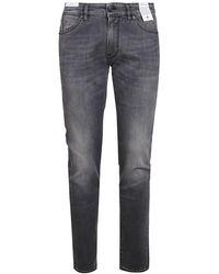 PT Torino Distressed Effect Denim Jeans - Grey