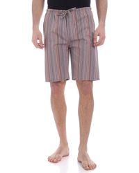 Paul Smith Multistripe Pattern Pajama Bermuda - Multicolor
