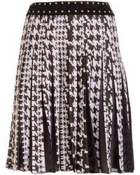 Roberto Cavalli Houndstooth Knitted Skirt - Black