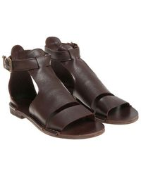 Punto Pigro - Brown Leather Sandals - Lyst