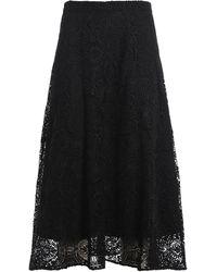 Michael Kors Macramé Lace Skirt - Black
