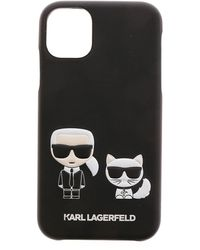 Karl Lagerfeld Cover Iphone 11 Karl E Choupette Nera - Nero