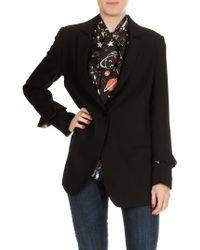 Shirtaporter - Black Jacket With Vent On The Back - Lyst