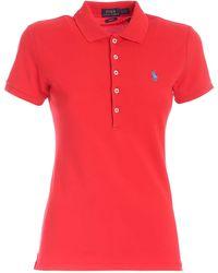 Polo Ralph Lauren - Light Blue Logo Polo Shirt - Lyst