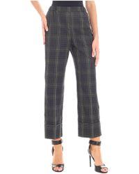 N°21 - Pantalone verde motivo check - Lyst