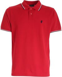 Save The Duck Logo Embroidery Polo Shirt - Red