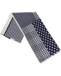 Altea - Polka Dot And Houndstooth Scarf - Lyst
