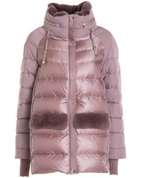 Diego M Fur Detail Padded Coat - Pink