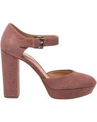 Michael Kors Sierra Platform Ankle Straps - Pink