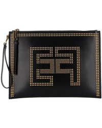 Elisabetta Franchi Synthetic Leather Clutch Bag - Black