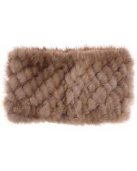 Max Mara Martora Fur Headband - Brown