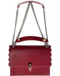 1476200ad7 Fendi - Red Kan I Bag With Asymmetric Edges - Lyst