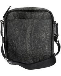 Etro Paisley Messenger Bag - Black