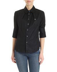 Vivienne Westwood Round Collar Shirt - Black