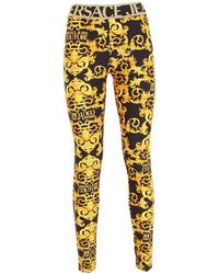 Versace Jeans Couture Branded Band Leggings - Black