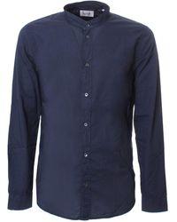 Dondup Mandarin Collar Shirt - Blue