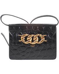 N°21 Leather Shoulder Bag - Black
