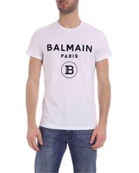Balmain T-shirt bianca con logo - Bianco