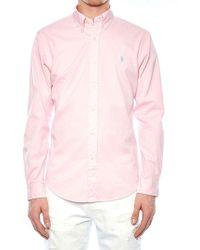 Polo Ralph Lauren - Pink Cotton Shirt - Lyst