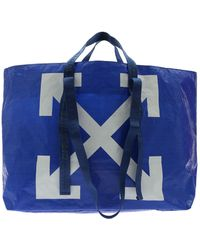 Off-White c/o Virgil Abloh - Tote New Commercial Bag In Electric Blue Color - Lyst