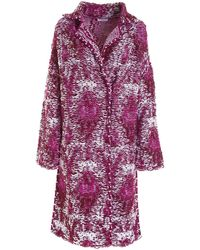 Dondup Knitted Coat - Purple